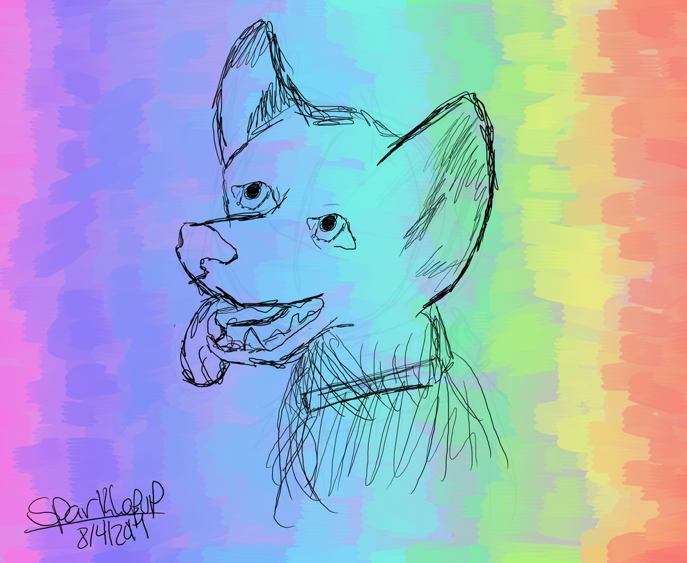 Dog drawing so far by Sparklepup459