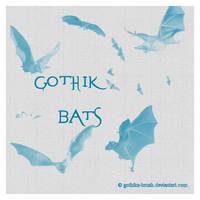 Gothik Bats by gothika-brush