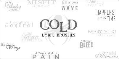 Cold Lyric Brushes by gothika-brush