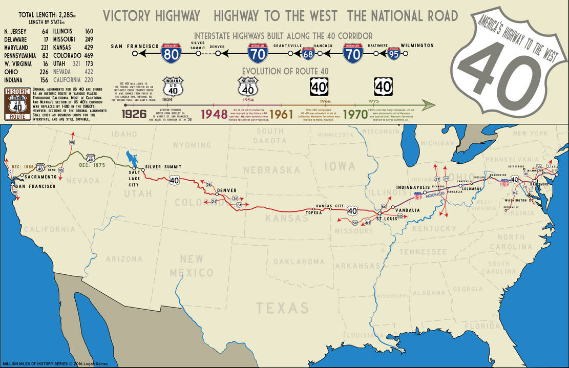 Historical map of US 40 by GP38-2 on DeviantArt on map of route 10, map of i 76, map of old highway 40, map of atlantic city expressway, map of i-95, map of i 695, map of i 83, map of ca 49, map of i 74, map of interstate i-40, map of i-40 united states, map of interstate 40 arizona, map of sr 16,