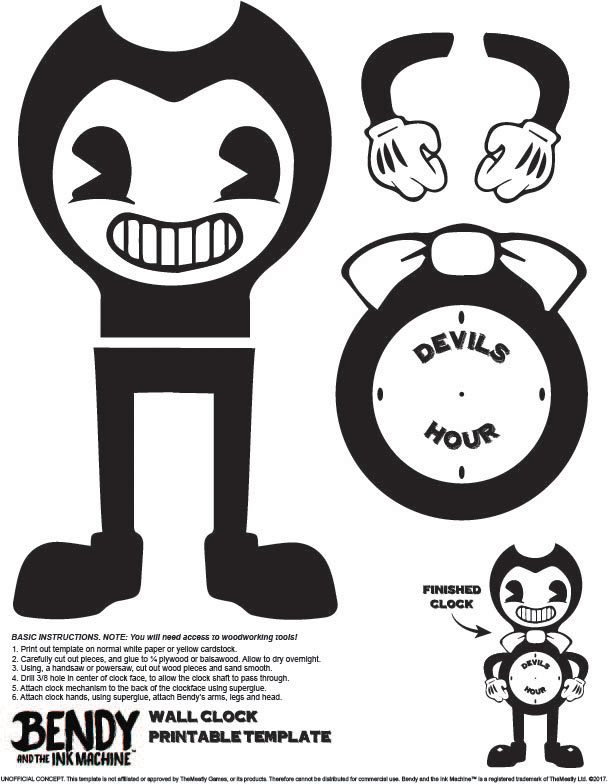 Bendy And The Ink Machine Wall Clock Template By Gp38 2 On Deviantart