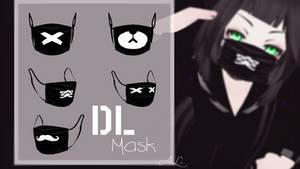 [MMD] TS Mask Black - DL