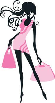 Pink dress girl