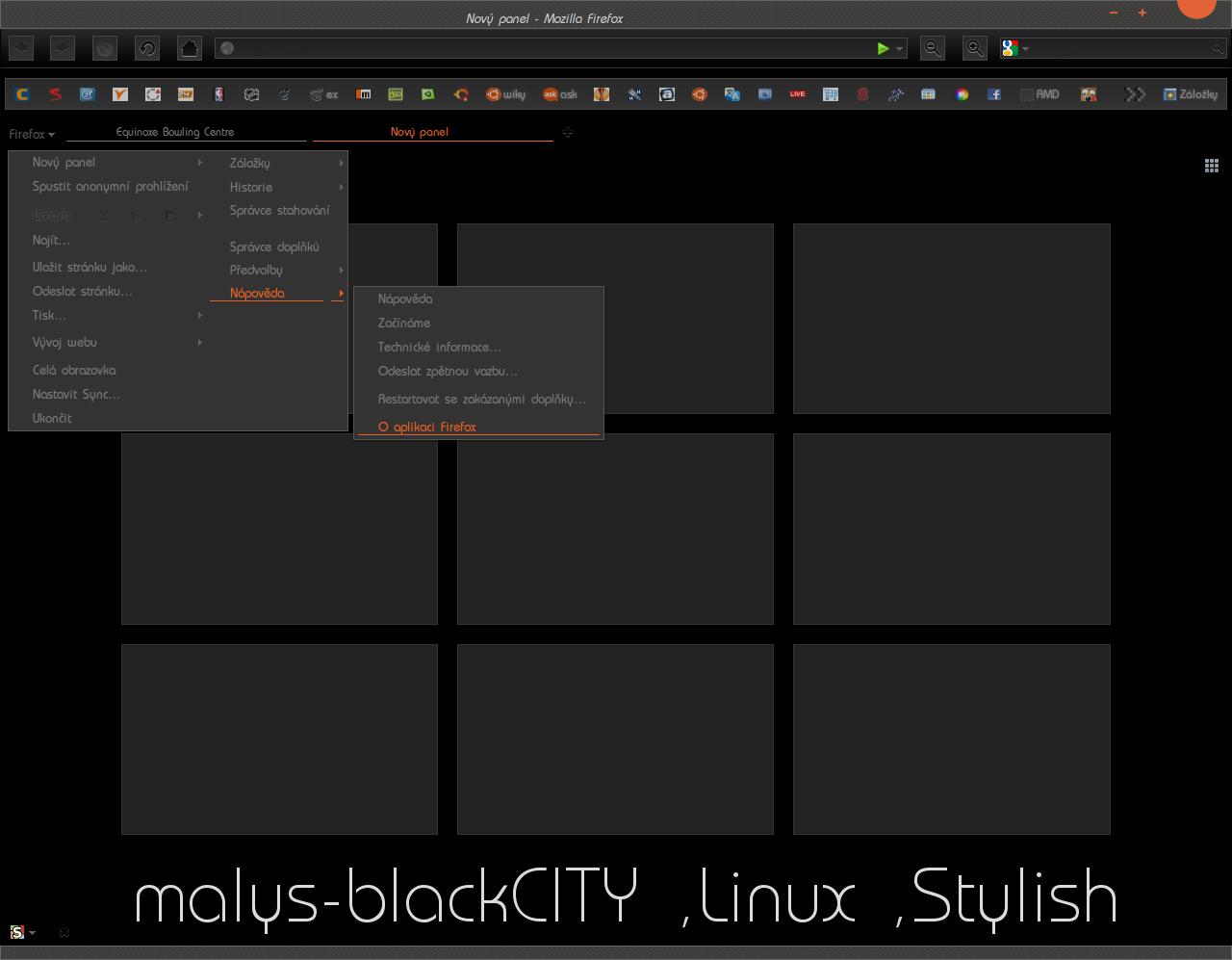 malys-blackCITY  for  Firefox (Stylish)