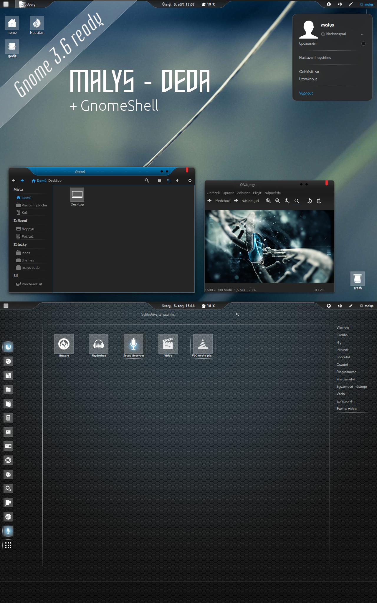 malys - deda GTK2,GTK3 + GS theme 1.0