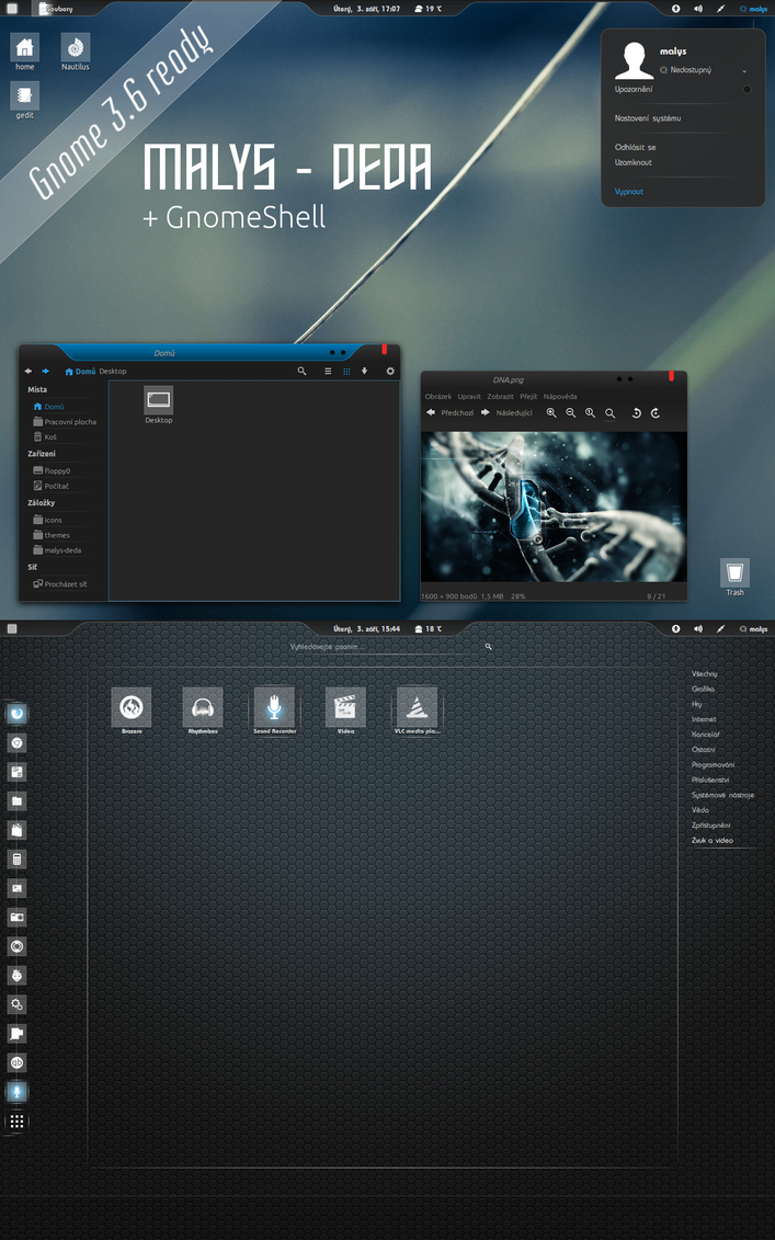 malys - deda GTK2,GTK3 + GS theme 1.0 by malysss