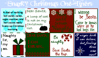 snarky christmas one liners by wickedwonderland