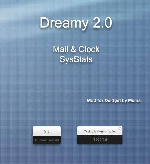 dreamy mail and clock for Xwidget by wanjuninlove-Muma