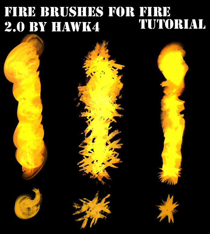 Fire Tutorial 2.0 Brushes by Hawk4