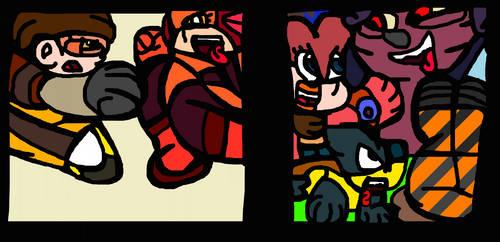 Tough Gals Game Jumpin'/Beatin' Video Game Girls 7 by ImmortalDestinyKing