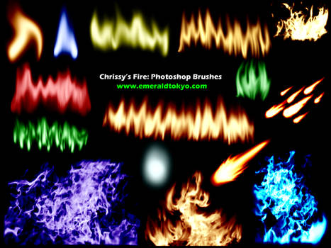 Chrissy's Fire PS Brushes