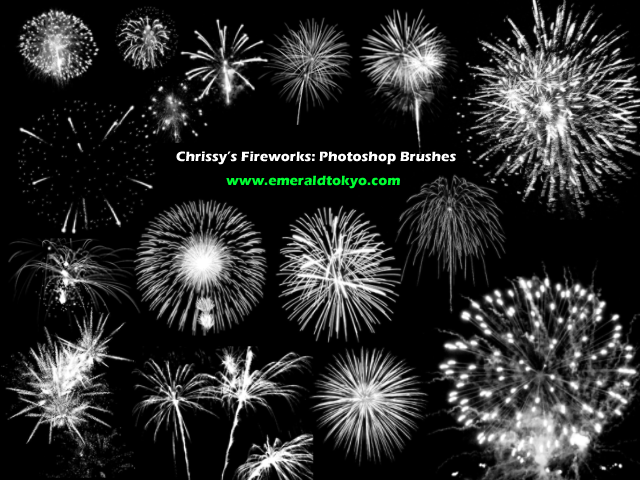 Chrissy's Firework PS Brushes