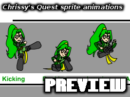 Chrissy's Quest sprite animations by EmeraldTokyo