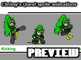 Chrissy's Quest sprite animations