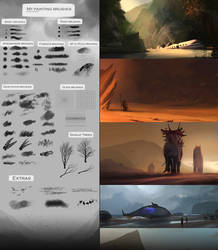 My painting brushes (Concept art, speedpainting)
