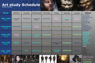 Make your personalized work schedule! by Suzanne-Helmigh