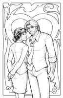 Fable's Bigby and Snow lineart by DStPierre