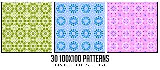 Patterns set 001 by WinterChaos
