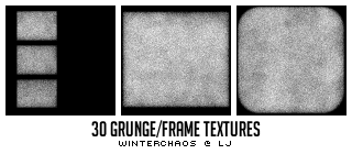 30 grungy frame textures by WinterChaos