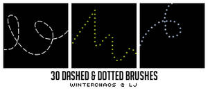 Dashed + dotted line brushes