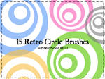 Retro circle brushes