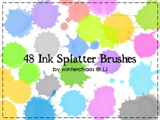 Ink splatter brushes by WinterChaos