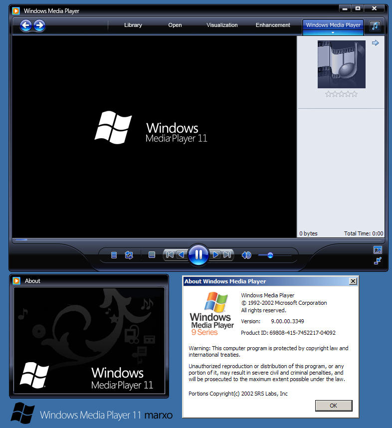 Free download windows media player 12 skins for windows 7, vista.
