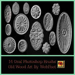 Old Wood Art Oval PS Brushs