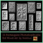 OldWoodArt Rectangula PSBrushs
