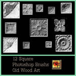 Old Wood Art Square PS Brushs