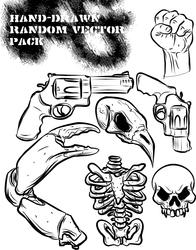 hand drawn random vector pack by ragingcephalopod