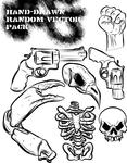 hand drawn random vector pack