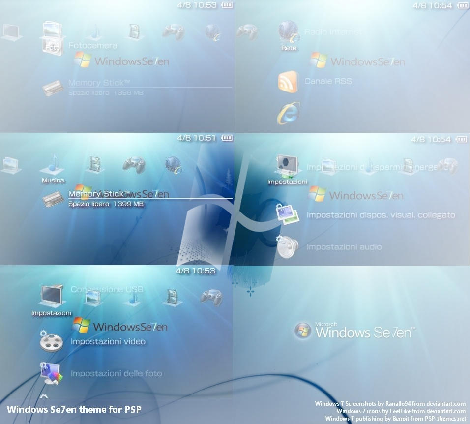 Best Windows 7 theme for PSP by FeelLike