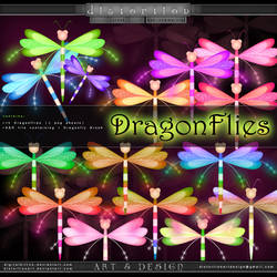 Stock - Dragonflies by ObsessiveDezign