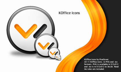 KOffice Icons by Pixellover