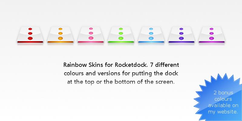 Rainbow Rocketdock Skins by Pixellover on DeviantArt