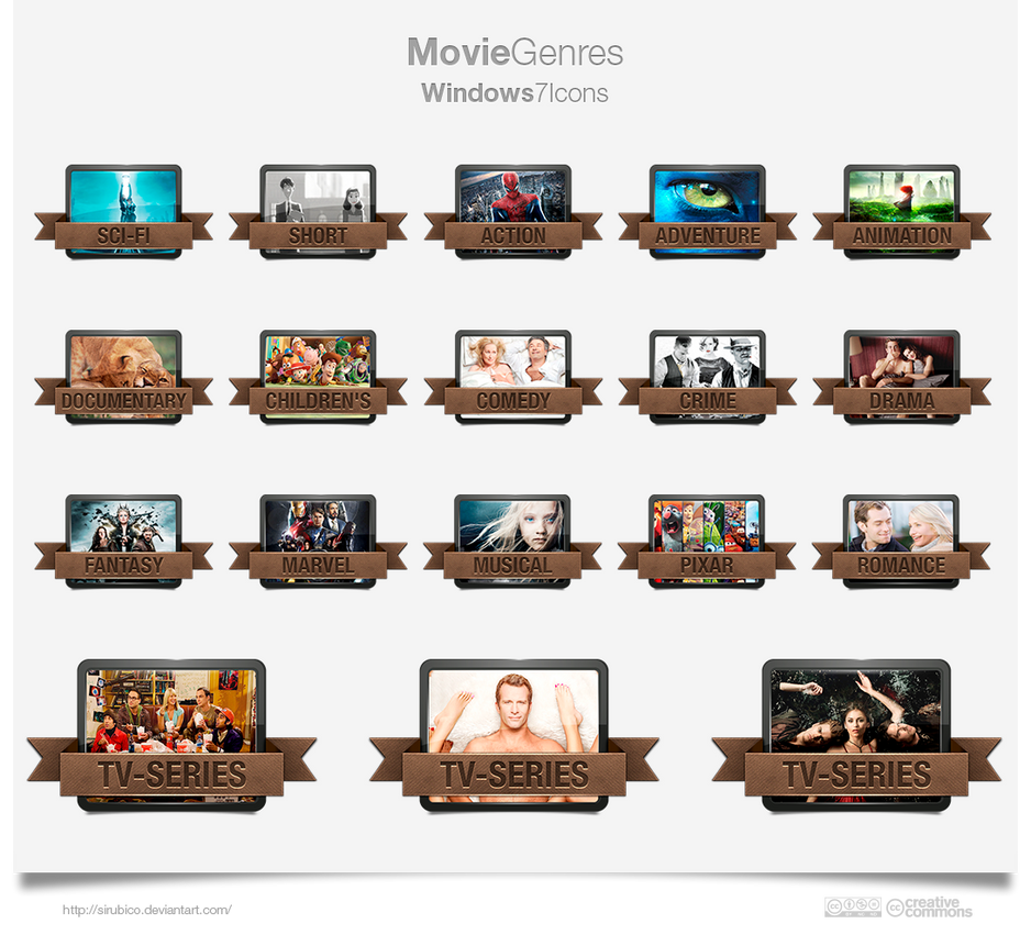 Movie Genres Icons 2013 Update By Sirubico On Deviantart