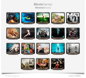 Movie Genres Icons 2013 Update.
