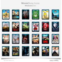 Bluray Movie Icons by sirubico