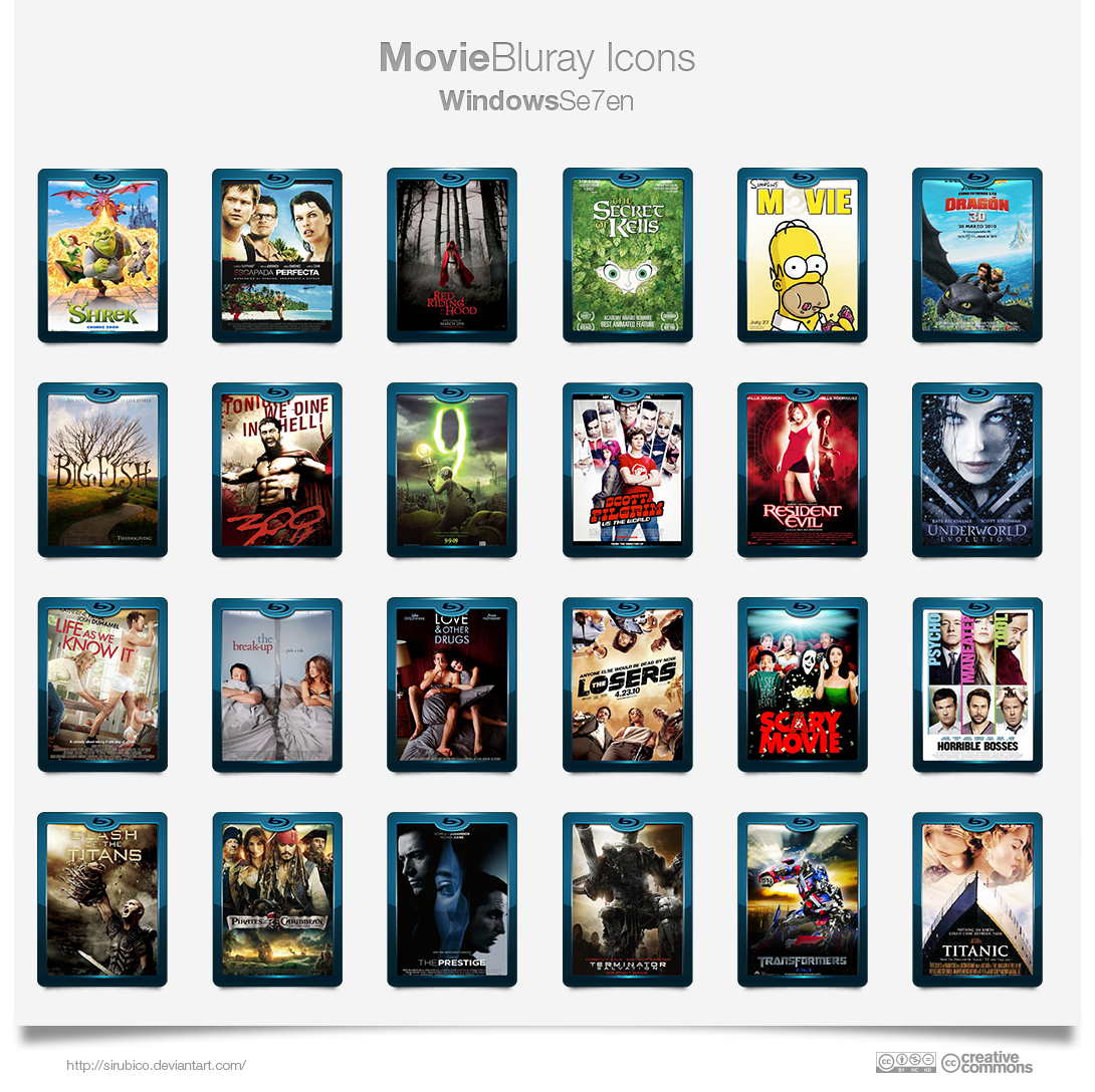 Bluray Movie Icons By Sirubico On Deviantart
