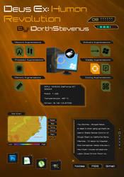 Deus Ex: Human Revolution Rainmeter skin pack v1.0