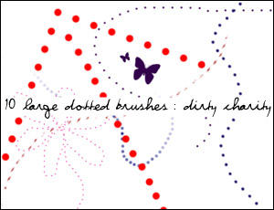 Dotted Lines Brushes by DirtyCharity
