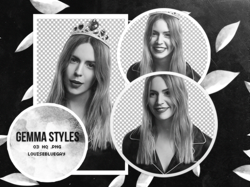 Gemma Styles Pack PNG 004 by louisebluegay