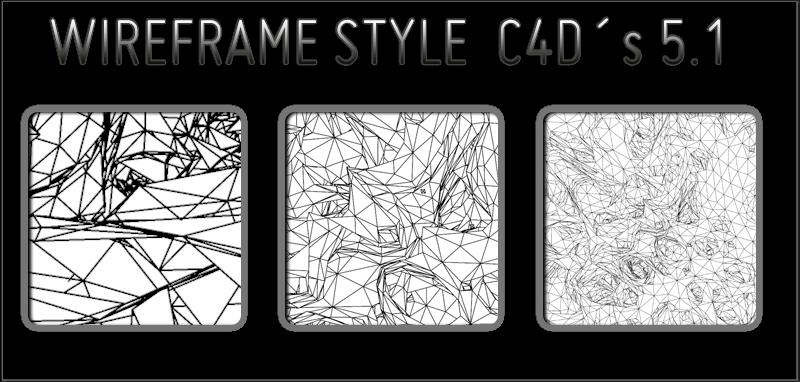 wireframe style C4Ds 5v1 by trveviking