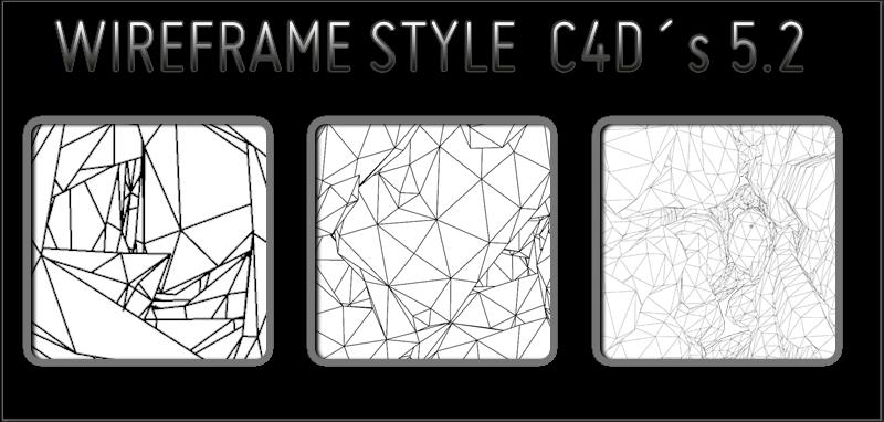 wireframe style C4Ds 5v2 by trveviking