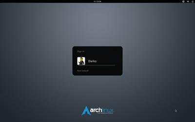 Arch Linux element GDM wallpaper