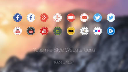 Yosemite Style Website Icons by malisremac