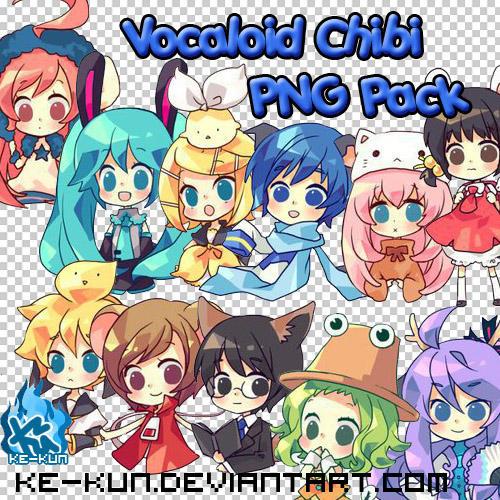 PNG Pack Vocaloid Anime Chibi By Ke Kun