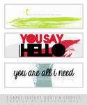 [PACK TEXTURE] 3 large texture Quote and strokes