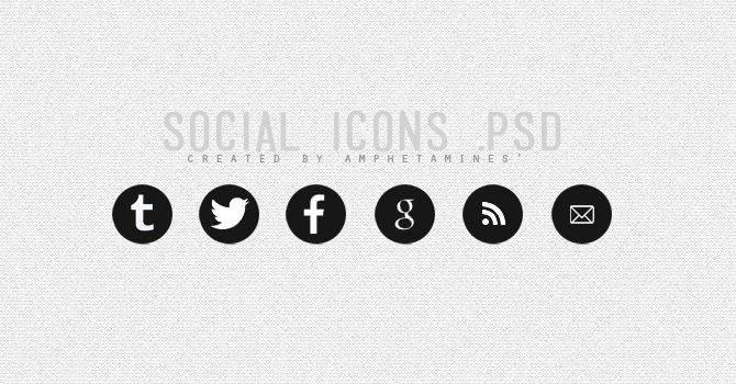 Social Icons .psd by DAMIANsoul